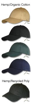 Fair Hemp Custom Headwear - Hemp with Organic Cotton and Recycled Plastic decorated with your embroidery design